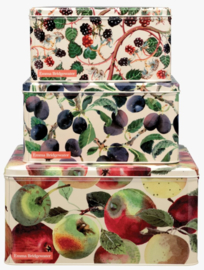 Emma Bridgewater Vegetable Garden Apples Set of 3 Square Cake Tins