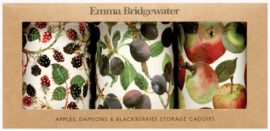 Emma Bridgewater Vegetable Garden Apples Set of 3 Round Tin Caddies Boxed