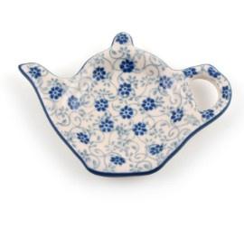 Bunzlau Teabag Dish Teapot 10 cm Flower Fountain