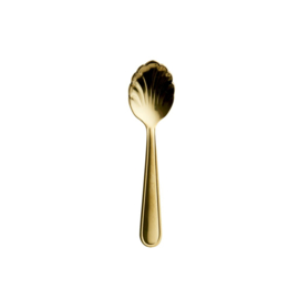 Rice Stainless Steel Seashell Espresso Spoon - Gold Coated