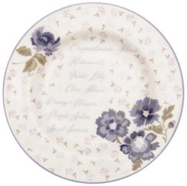 GreenGate Small Plate Beatrice white -stoneware-
