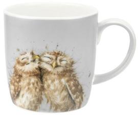 Wrendale Designs Large 'The Twits' Mug -licht grijze achtergrond*-