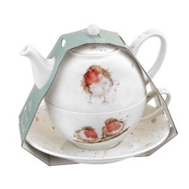 Wrendale Designs Tea For One with Saucer Robins