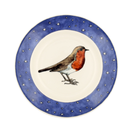 "Emma Bridgewater Robin in a Starry Night 8 1/2"" Plate"