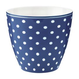 GreenGate Latte Cup Spot blue -stoneware-