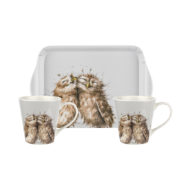 Wrendale Designs Owl Mug & Tray set