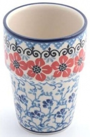 Bunzlau Milk Mug 240 ml Red Violets
