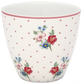 GreenGate Latte Cup Eja white -stoneware-