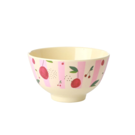 Rice Small Melamine Bowl - Cherry Print