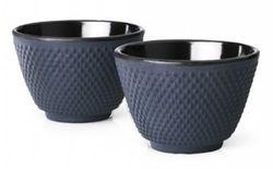 Bredemeijer Cast Iron Tea Cups -set of 2- Xilin Blue
