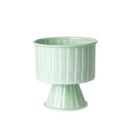 Rice Metal Flower Pot on Feet - Medium - Sage Green