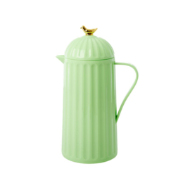 Rice Thermo with Gold Bird on Lid - Pastel Green - 1 liter