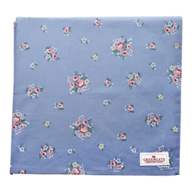 GreenGate Tablecloth Nicoline dusty blue 150 x 150 cm