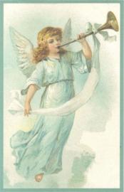 Meander Ansichtkaart Engel met Trompet