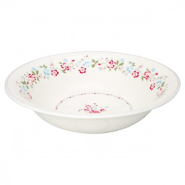 GreenGate Salad Bowl Sonia white -stoneware-