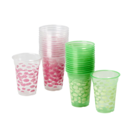 Rice 18 Disposable Plastic Cups with Sky Print in Assorted Colors