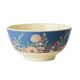 Rice Medium Melamine Bowl - Flower Collage Print