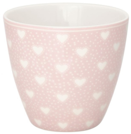 GreenGate Latte Cup Penny pale pink -stoneware-