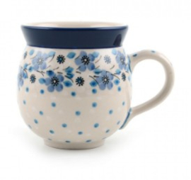 Bunzlau Farmers Mug 500 ml Blue White Love