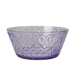 Rice Acrylic Bowl with Swirly Embossed Detail - Lavender - Large