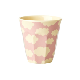 Rice Kids Small Melamine Cup with Cloud Print - Pink