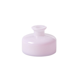 Rice Small Plump Glass Vase in Soft Pink