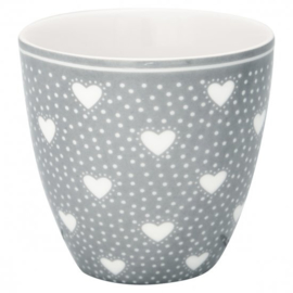 GreenGate Mini latte cup Penny grey -stoneware-