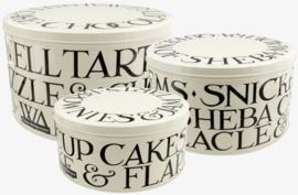 Emma Bridgewater Black Toast Set of 3 Round Cake Tins