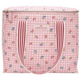 GreenGate Cooler bag two handles Viola check pale pink