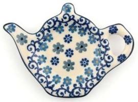 Bunzlau Teabag Dish Teapot 10 cm Winter Garden