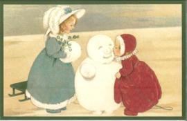 Meander Ansichtkaart Meisje kust Sneeuwpop