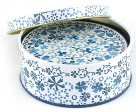 Bunzlau Round Tin with Coasters various Prints -6 pcs-