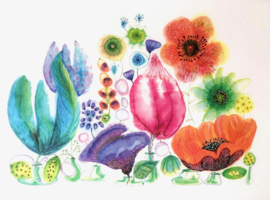 Meander Kaart Summer Flowers - Moniek Peek