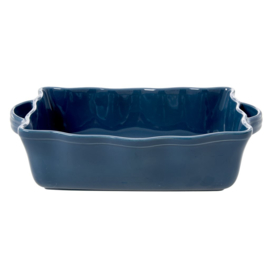 Rice Large Stoneware Oven Dish in Dark Blue