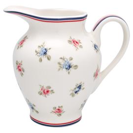 GreenGate Creamer round Hailey white  -stoneware-