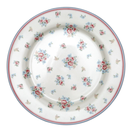 GreenGate Dinnerplate Nicoline white -stoneware-