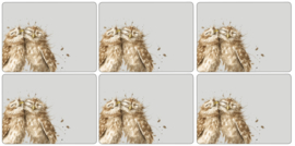 Wrendale Designs Set of 6 Owl Placemats -small size-