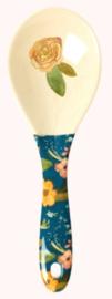 Rice Melamine Salad Spoon Selma's Fall Flower Print - 'Believe in Red Lipstick'