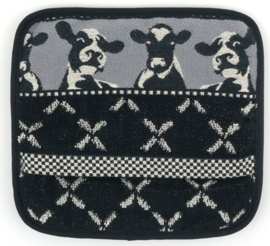 Bunzlau Kitchen Pot Holder Cows Black