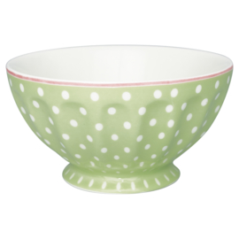 GreenGate French Bowl Extra Large Spot pale green -stoneware-