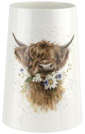 Wrendale Designs 'Daisy Coo' Vase -20 cm hoog-