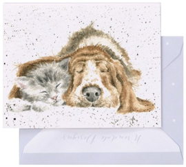 Wrendale Designs 'Dog-and-Catnap' miniature card