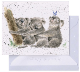 Wrendale Designs 'Three of a Kind' miniature Card