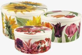 Emma Bridgewater Flowers Set of 3 Round Cake Tins