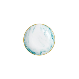 Rice Porcelain Dipping Bowl - Marble Print - Jade