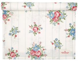 GreenGate Table Runner Henrietta white 45 x 140 cm