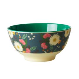 Rice Medium Melamine Bowl - Wedding Bouquet Print