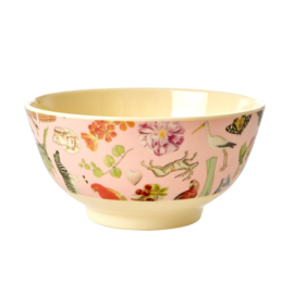 Rice Medium Melamine Bowl - Pink Art Print