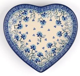 Bunzlau Heart Shape Dish Daydream