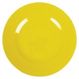 Rice Melamine Round Dinner Plate in Yellow